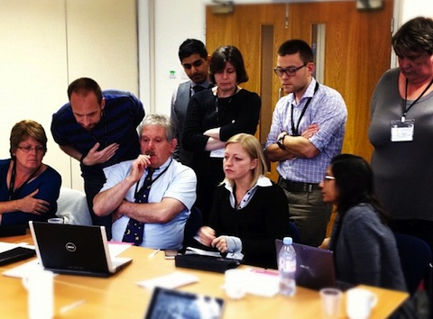 Concentrating hard during EA Management masterclass.